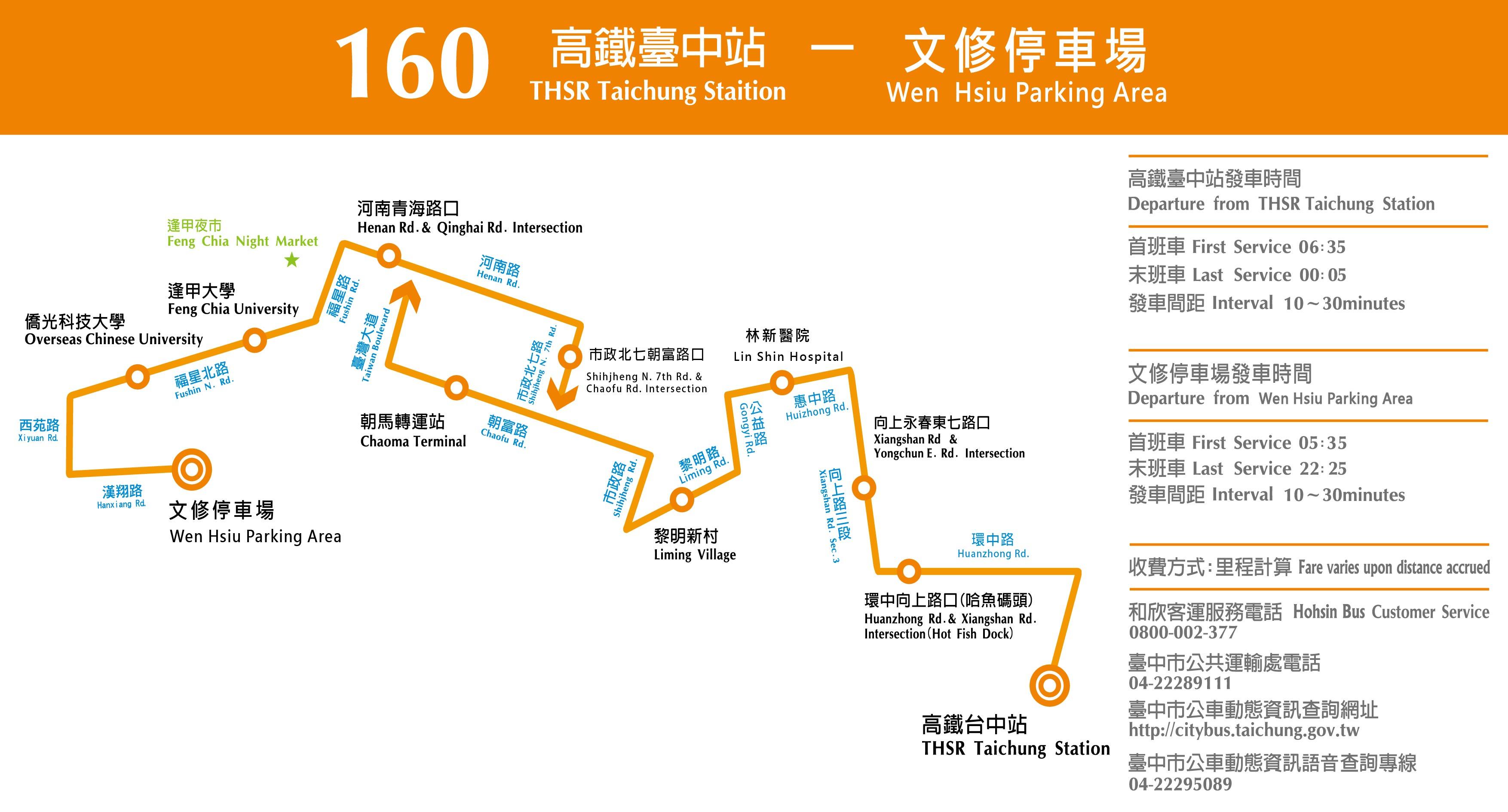 【和欣客運】160路 高鐵臺中站-文修停車場